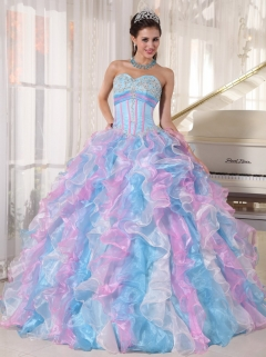 Colorful Rainbow Quinceanera Dresses,Multi-Colored Sweet ...