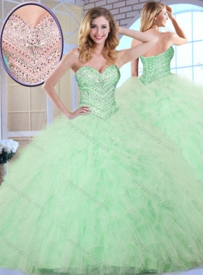 Pretty Apple Green Quinceanera Dresses,Super Sweet Apple Green ...