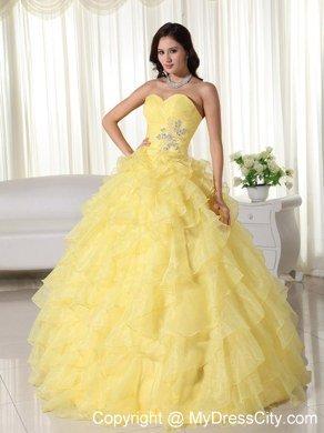 Yellow Quinceanera Dresses,Pretty Light Yellow Quinceanera Dresses ...