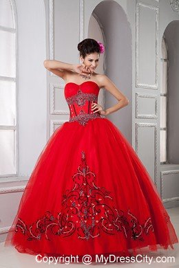 Pretty Red and Black Quinceanera Dresses,Super Sweet Red and Black ...
