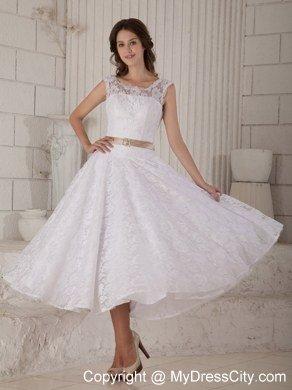 Elegant Wedding Dresses Tea Length