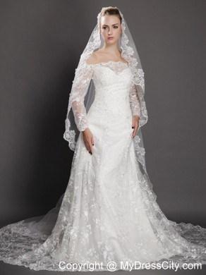 Royal Lace Liques Tulle Bridal Veil