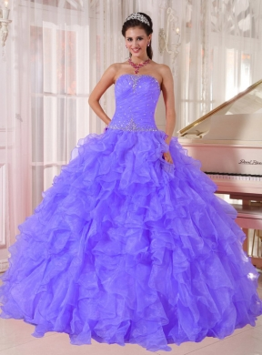 Ball Gown Gown Beading Cheap Quinceanera Dresses in Purple