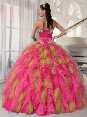 5353533d9b Sweetheart Organza Cheap Quinceanera Dresses with Appliques and Sash