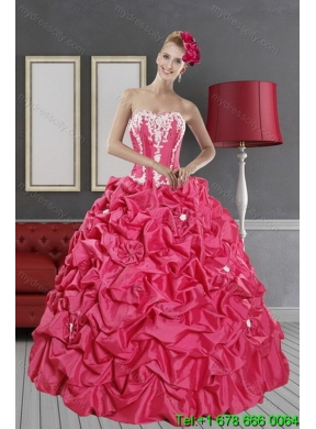 36ecca8fe5 2015 Detachable Pick Ups and Appliques Hot Pink Quinceanera Skirts