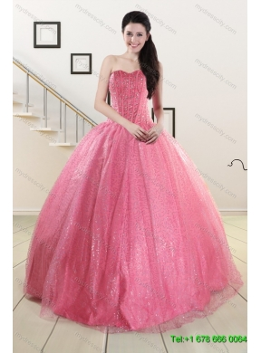 ef8a3180949 Rose Pink Beading Ball Gown Quinceanera Dress and Strapless Knee Length  Dama Dresses and Halter Top Little Girl Dress