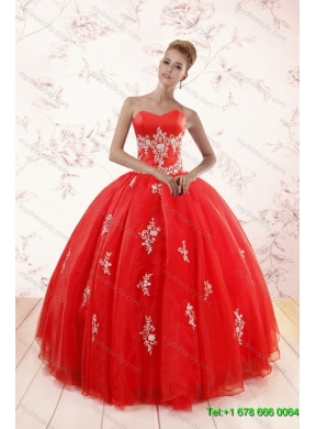 0f0d8de54bc Red Ball Gown Appliques Quinceanera Dress and Short Beading White Dresses  and Red Halter Top Little ...