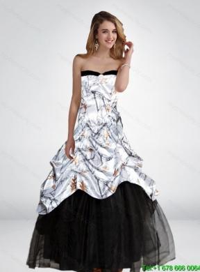 2017 Fashionable Princess Long Hot Pink Camo Wedding Dresses