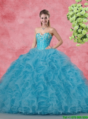f6e702f11dd 2015 Elegant Summer Apple Green Quinceanera Dresses with Beading and ...