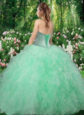 64b18d40c2 Champagne Gorgeous Sweetheart 2016 Quinceanera Dresses with Beading and  Ruffles