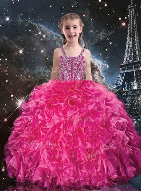 6dfbad6c810 Hot Sale Straps Mini Quinceanera Dresses with Beading and Ruffles