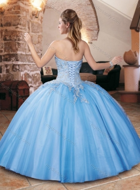 1fcc29f91e8 Classical Big Puffy Champagne Quinceanera Dress with Appliques and Beading