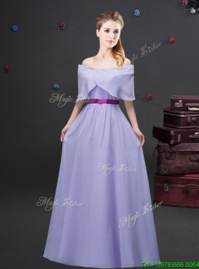 Simple Off the Shoulder Lavender Long Prom Dress in Chiffon ...