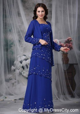 layers beading appliques mather of the bride dress with