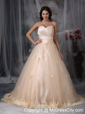 Plus size designer for sale colored wedding dresses 2018 for Plus size champagne colored wedding dresses