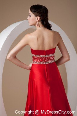 d586bf28df439f High-low Red A-line Beading Prom Dress with Elastic Wove Satin