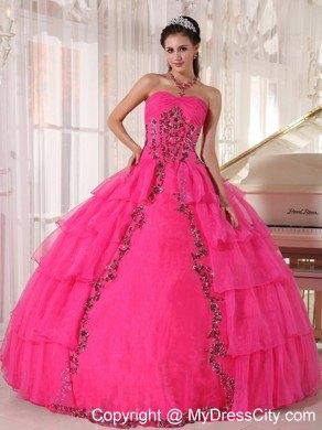 Hot Pink Poofy Dresses