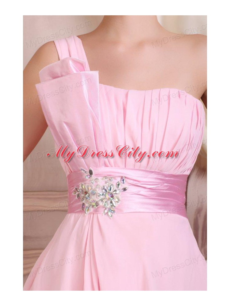 Baby Pink Strapless Short Mini-length Prom Dress with ...