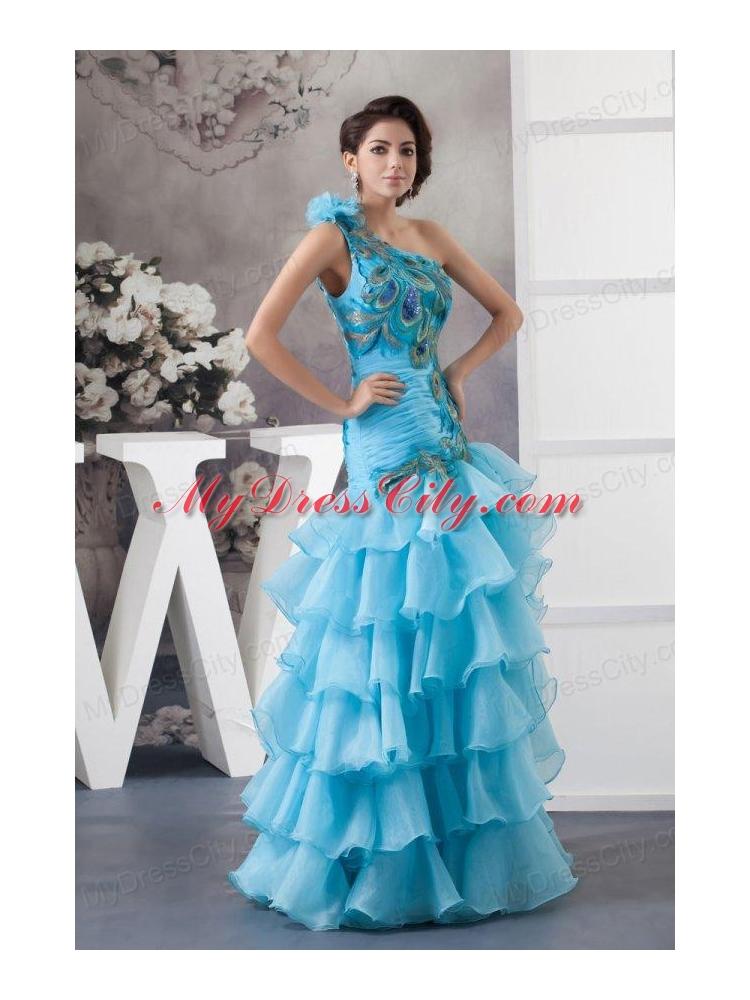 Seems excellent blue and orange prom dresses