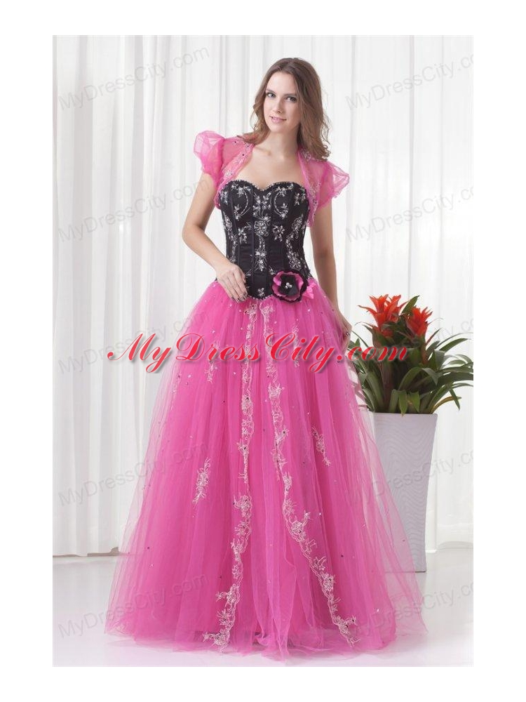 Princess Sweetheart Tulle Lace Up Beading Prom Dress in Pink ...