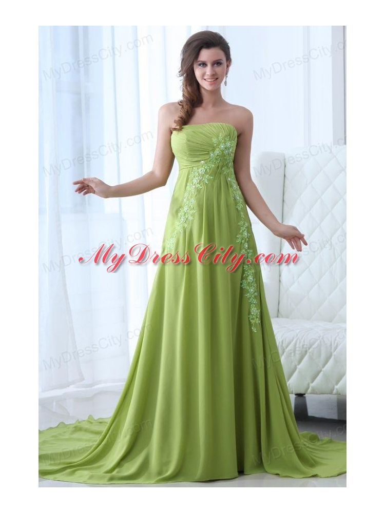 Yellow And Green Prom Dresses 9