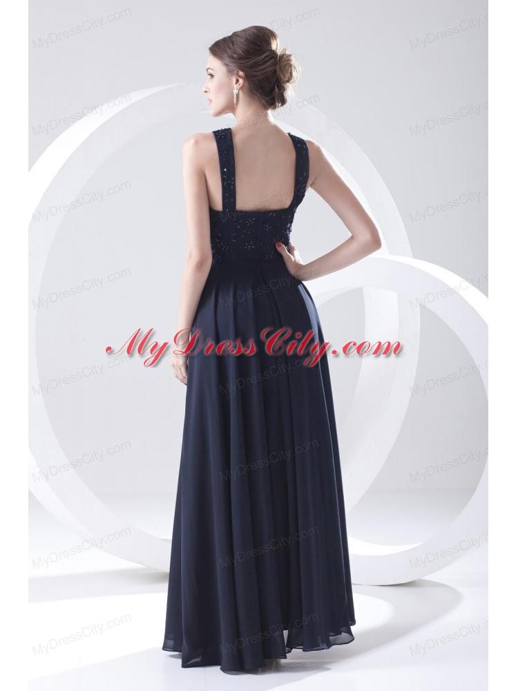 Navy Lace Empire Dress