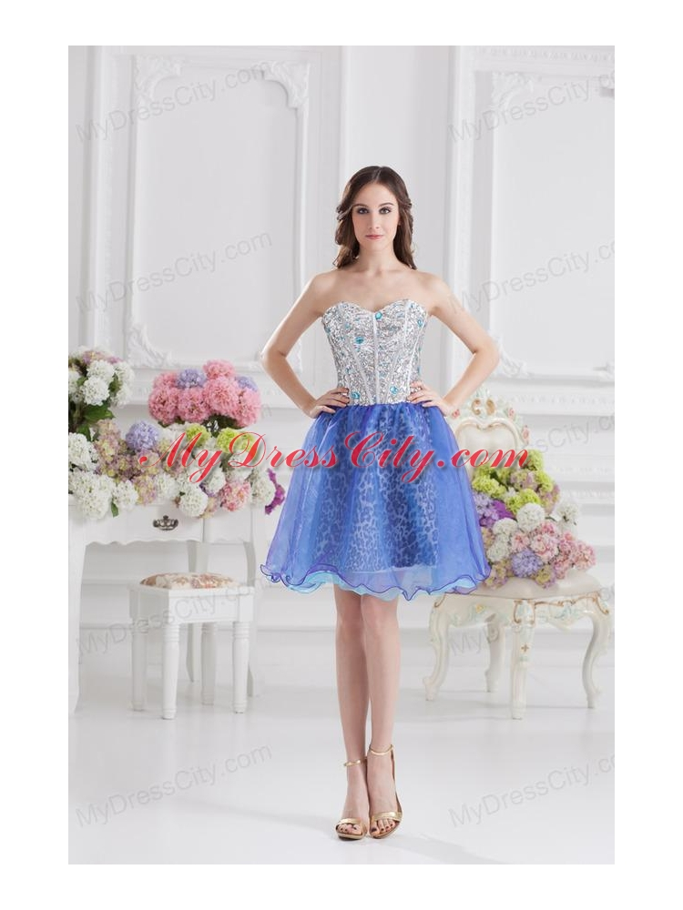 Sweetheart Medium Slate Blue A-line Prom Dress with Beading ...