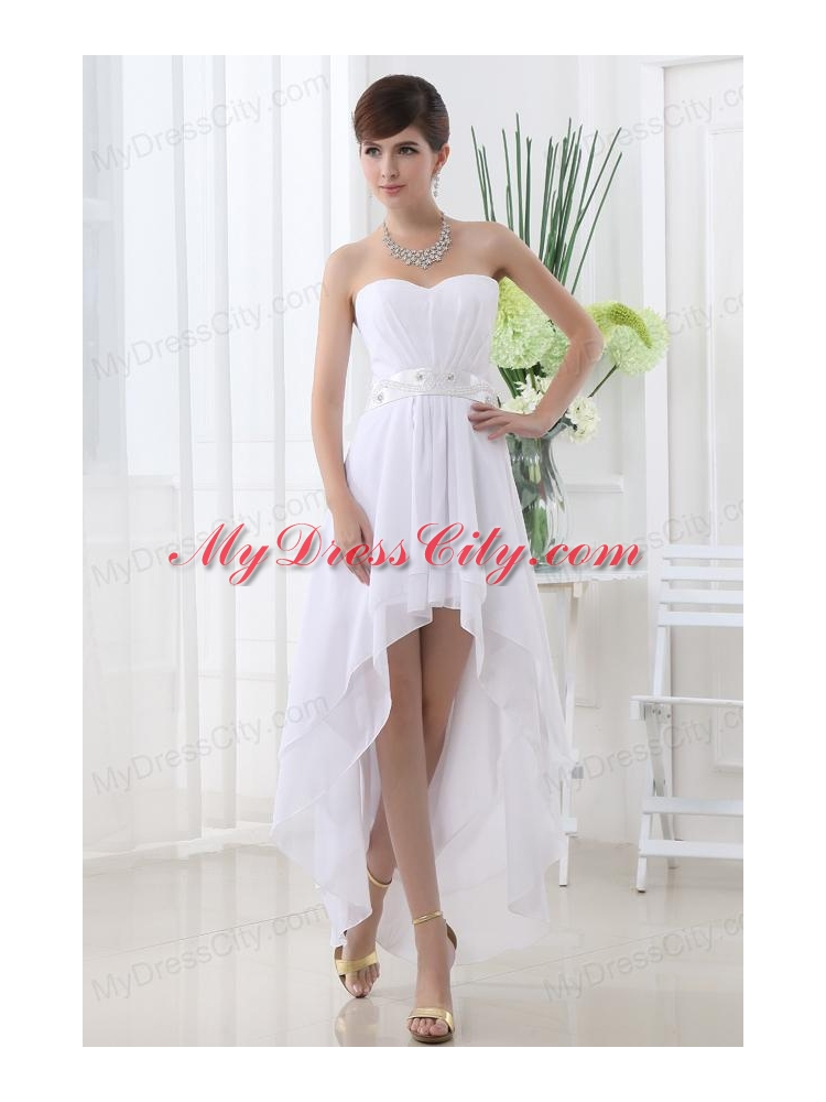 Empire Sweetheart White Dress