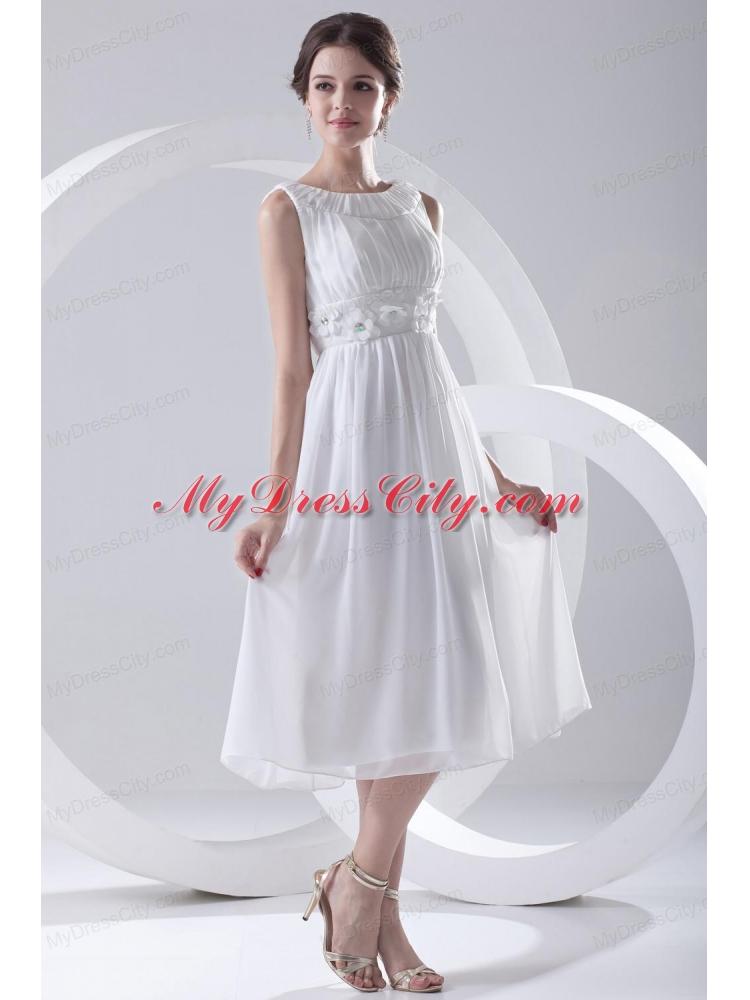 Empire Tea Length Gown