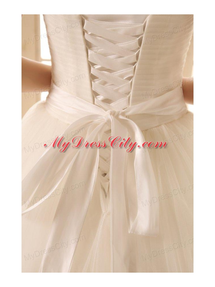 A line ivory halter top appliques floor length organza for Wedding dress halter top