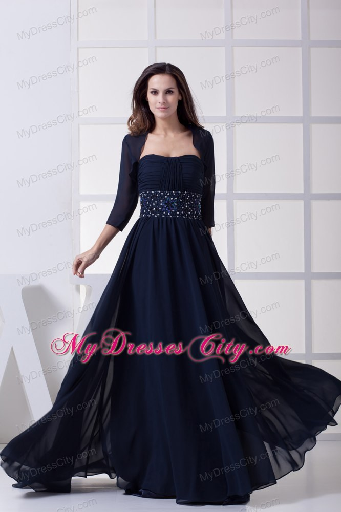 Beading pleated strapless navy blue long dresses for for Mother dresses for wedding plus size
