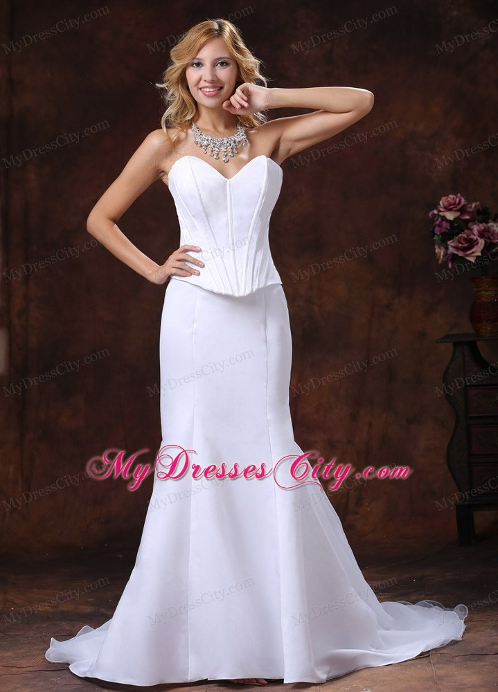 Simple sweetheart corset mermaid wedding dress for custom for Custom mermaid wedding dress