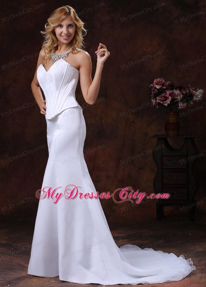 Simple Sweetheart Corset Mermaid Wedding Dress For Custom Made ...