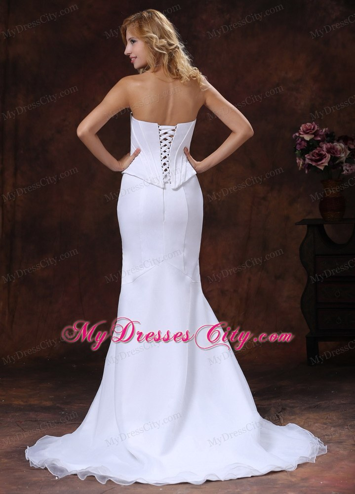 Simple sweetheart corset mermaid wedding dress for custom for Sweetheart corset wedding dress