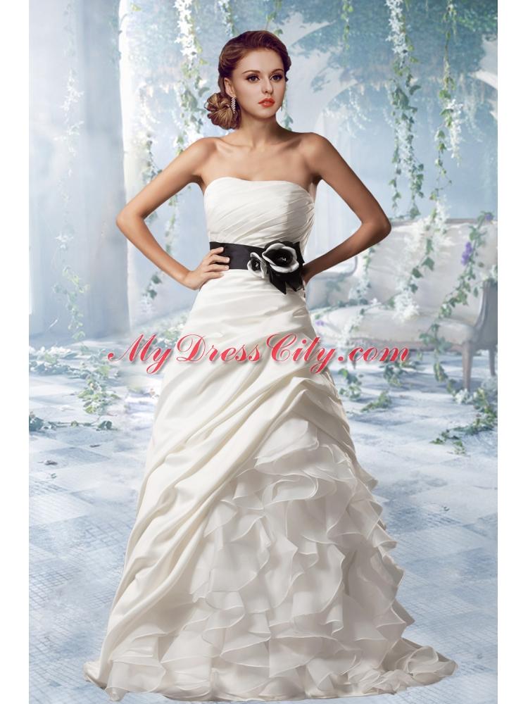 Princess Wedding Dresses Strapless : Princess strapless gorgeous wedding dresses with brush