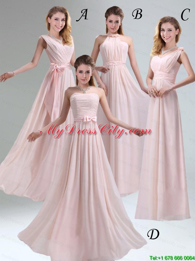 Most Beautiful Chiffon Light Pink Empire Prom Dress with Ruching ...