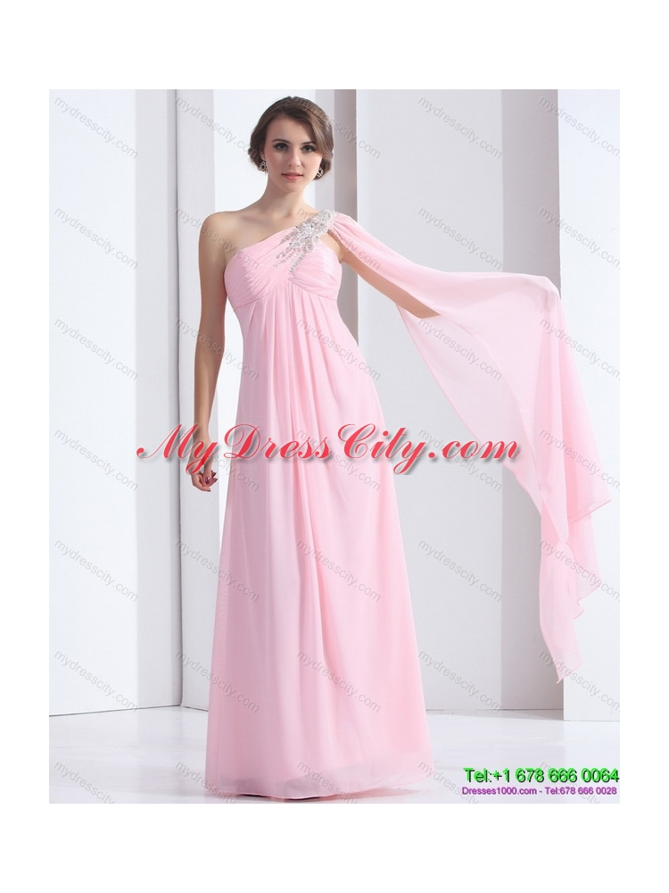 Perfect 2015 e Shoulder Baby Pink Prom Dress with