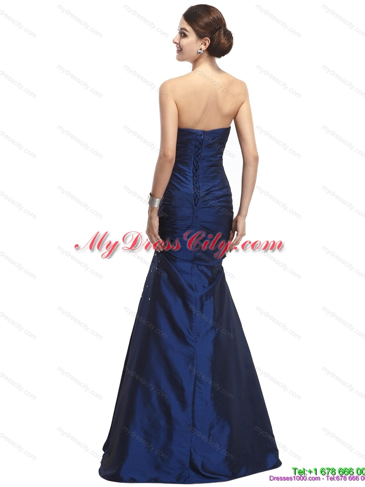 2015 The Super Hot Strapless Mermaid Prom Dress with Beading