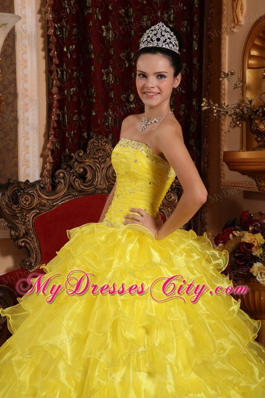 Yellow Quinceanera Dresses 2013 - Missy Dress