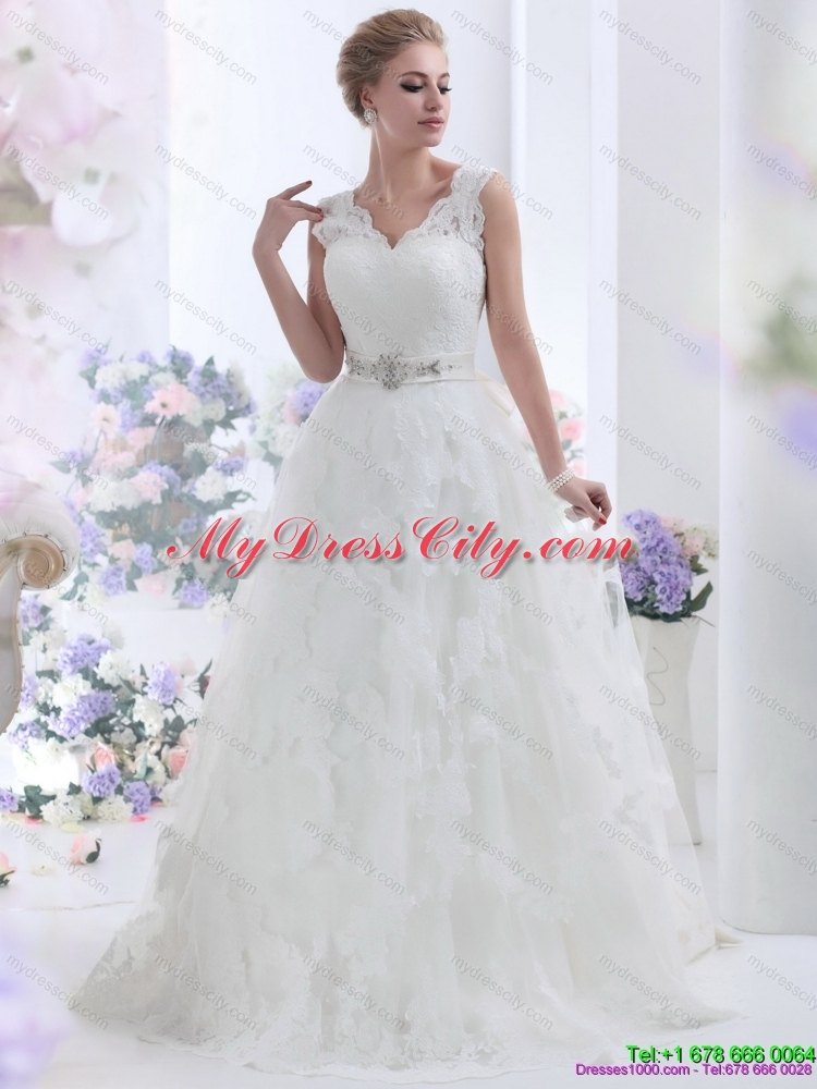 Unique Brush Train Maternity Wedding Dresses With Lace And