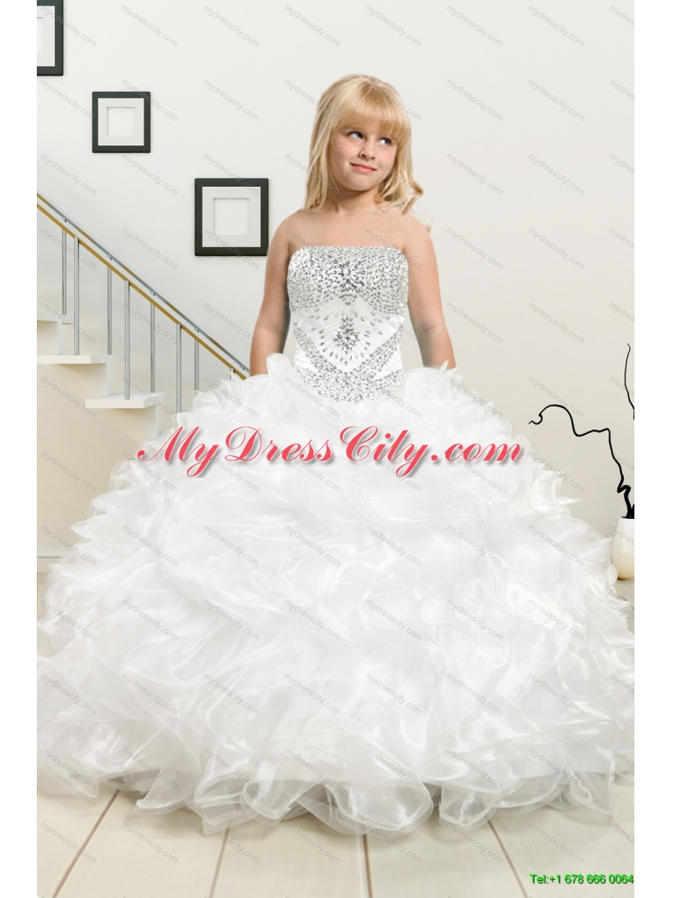 White Ball Gown Quinceanera Dress and Black Sweetheart Short Dama ...