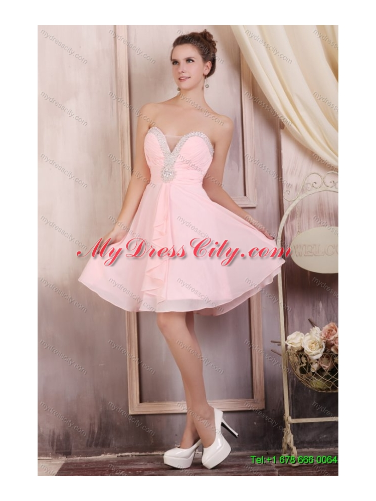 Sweetheart Beading Quinceanera Dress and Light Pink Short Prom ...