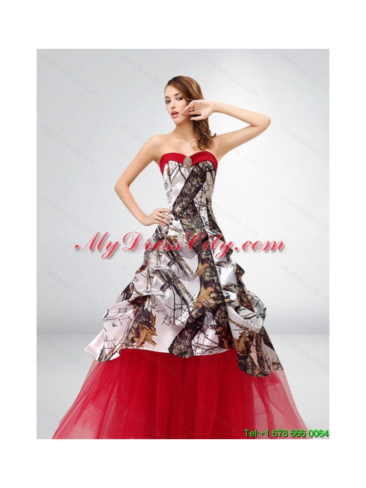 A Line Strapless Exquisite 2015 Spring Camo Wedding Dresses ...