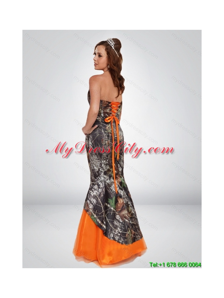 Mermaid Camo Most Popular Prom Dresses with Hand Made Flower and ...