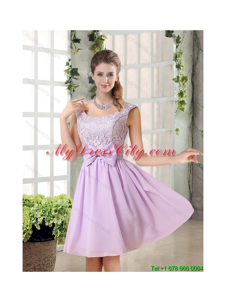 2015 Summer New Style A Line Chiffon Dama Dress