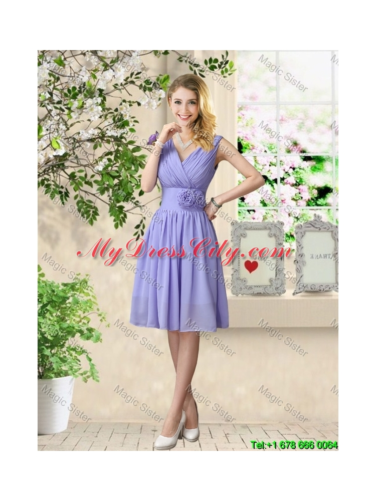 Cheap One Shoulder Ruched Bridesmaid Dresses In Lavender