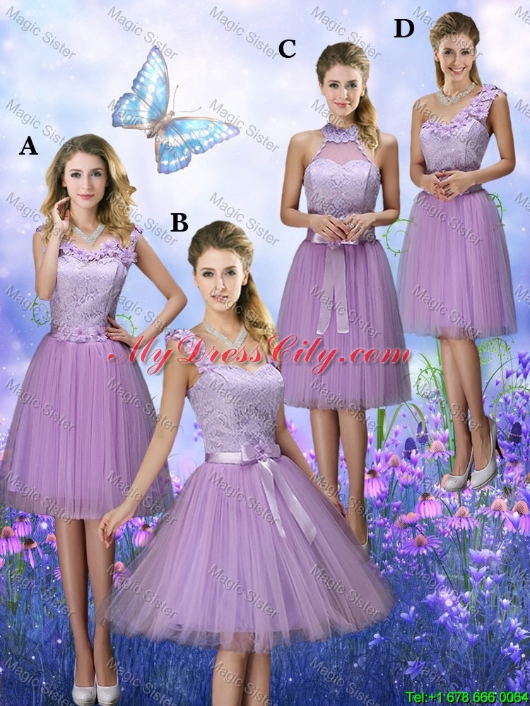 Classical Scoop Bridesmaid Dresses with Hand Made Flowers ...