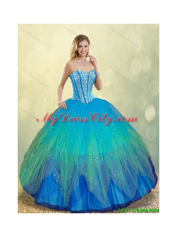 Elegant Beading Ball Gown Sweet 16 Dresses in Multi Color