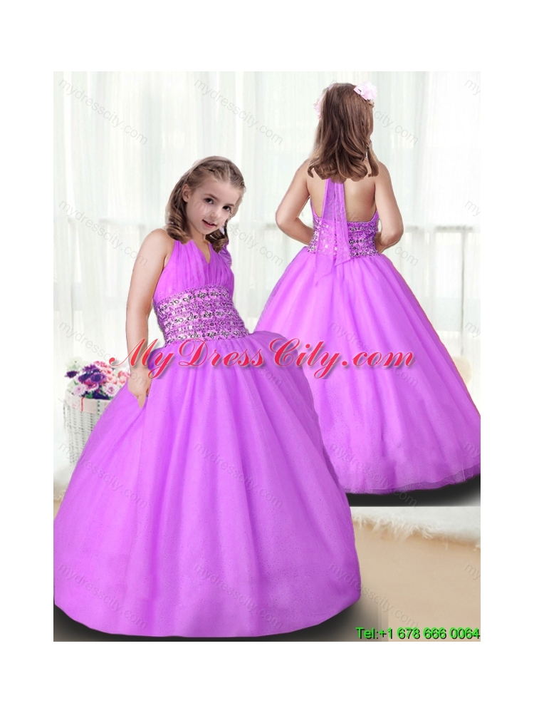Cheap Ball Gown Little Girl Pageant Gowns with Beading - MyDressCity.com