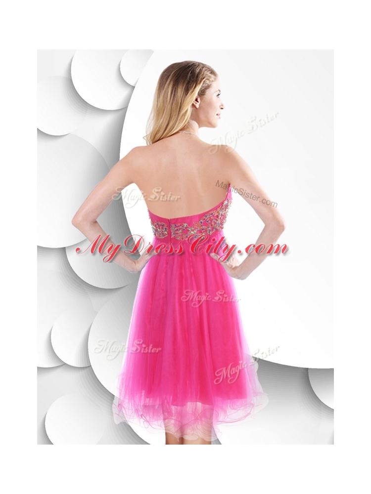 Pretty Pink Short Prom Dresses 88